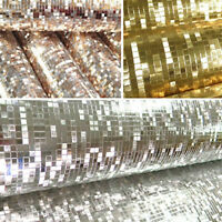 10M Wallpaper Glitter Mirror Effect Mini Mosaic Sparkle Light Reflect Gold Foil