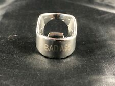 Bad A$$ Beer Bottle Opener Ring Stainless Steel Engraved Bar Tool