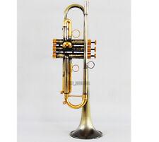 Customized Antique bronze Trumpet Professional Bb Horn Monel Valves new Pro.Case