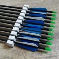 "31"" Aluminium Pfeile Spine 300 Bogen 8,8 mm Archery Bogenschießen Pfeile 6pk"