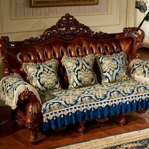 Europe Luxury Lace Jacquard Chenille SofaCover Couch Slipcover Armrest Protector