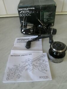 SHIMANO AERO 8000C GTE BAITRUNNER REEL + S/SPOOL, PAPERS, BOX.  GREAT CONDITION