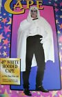 """45"""" WHITE HOODED Masquerade CAPE One Size Adult Unisex by Rubie's Costume"""