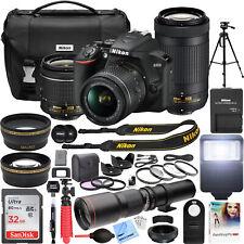 Nikon D3500 DSLR Camera + 18-55mm VR + 70-300mm 2 Lens + 500mm Telephoto Pro Kit