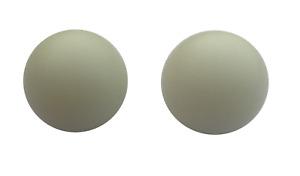 2 X LARGE WHITE ROULETTE BALLS - 20MM