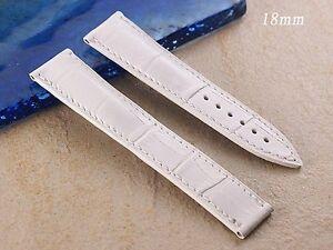 Genuine Leather Band Strap bracelet compatible wi/ Speedmaster OMEGA 18mm x 16mm