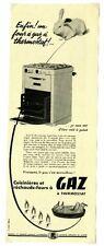 Affiche publicitaire ancienne des années 50 / Gaz / Gazinière four / FN07
