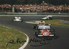 Arturo Merzario-AUTOGRAFO ORIGINALE, Ferrari 1973, SIGNED PHOTO