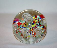 VINTAGE 1976 GENTILE CONFETTI CONTROLLED BUBBLE PAPERWEIGHT