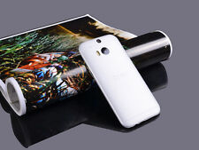 2x 0.3mm Ultra Thin Slim Matte Hard Back Case Cover Skin For HTC ONE M8 M7