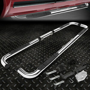 """FOR 99-11 CHEVY/RAM/GMC EXT/CREW CAB CHROME 3""""SIDE STEP NERF BAR RUNNING BOARD"""