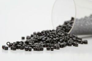 Miyuki Delicas 11/0 Opaque Black Bead DB-010