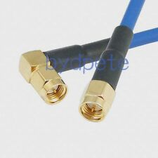 SMA male right angle to male plug RG402 Semi flexible rigid 3G 4G Low Loss cable