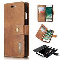 Zipper Leather Soft Secure Detachable Anti-thief Flip Wallet Case iPhone 7 8 Plu