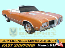 1971 GM Oldsmobile 442 W29 Paint Stencil Decals Stripes Kit Y73 Hood (non-AI)