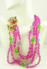 """Joan Rivers 2 Strand  Beaded Multi Color Beaded Bee Necklace   34"""""""