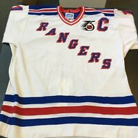 4875f4b4a 1991-92 Mark Messier Authentic CCM Cosby New York Rangers Game Model Jersey
