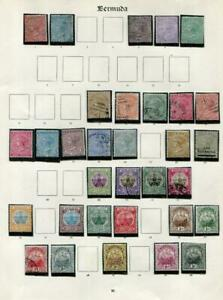 BERMUDA: Queen Victoria Examples - Ex-Old Time Collection - Album Page (41647)