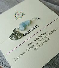 Minimalist Amazonite Gemstone anklet Yoga Healing Jewelry March birthstone