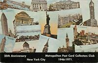 Metropolitan Post Card Collectors Club 25th Anniversary New York City Postcard