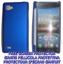 Pellicola+custodia BACK COVER BLU rigida per LG Optimus 4X HD P880
