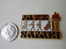"Olympic LA 1984 PIN ""Jazz Safari"" w/ Torch & Dated Vtg. Lapel Summer Games"