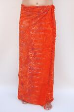 NEW PREMIUM QUALITY ORANGE SARONG PAREO BEACH POOL WRAP SWIM COVER BNIP / sa355P