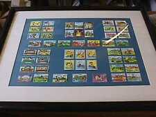Disney St Vincent Grenada Stamp Lot Of 50 Framed