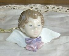 Lladro Angel Cherub Seraph Porcelain Ornament with Bells