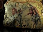 VICTORIAN TAPESTRY SEWING TOTE Wood Handled Lined w/Storage Pockets CUSTOM MADE