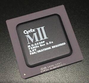 Cyrix MII-233GP CPU Black top Socket7 187.5MHz(75MHz x 2.5 2.9v) 32bit Processor