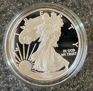 2008-W American Eagle 1oz Silver Proof Bullion Coin w/Box/Case & COA