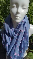 Pañuelo para el cuello bufanda chal Lavanda estrellas rosa talla 180 x 70cm