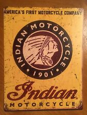 Tin Sign Vintage Indian Motorcycles 1901