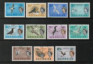 QEII ASCENSION 63 Birds set to 2/6  fresh vlmm &  superb used