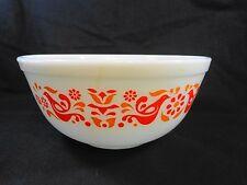 PYREX Mixing Bowl 403 Friendship White 2.5 Quart Red Birds Vintage Kitchen