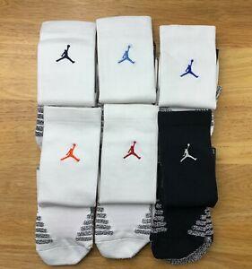 Air Jordan Vapor White/Black Crew Socks Jumpman Pick Size & Logo Color SX7012
