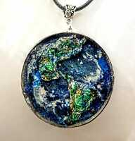 pendant Orgone Orgonite Planet Earth, with stones and crystals, Reiki,meditation