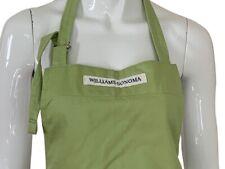 New listing Williams Sonoma Adjustable Double Pocket Apron Full Length Bbq Green Logo Adult