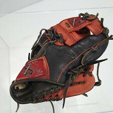 "Salinas Black & Red Leather Baseball/Softball Glove 11-1/2""! Youth"