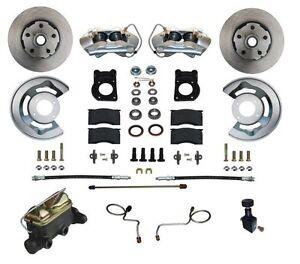 1967-69 Ford/Mercury Leed Brakes Front Manual Disc Brake Conv Kit (plain rotors)