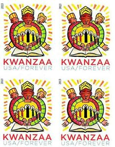USA 2013 KWANZAA imperforated block of 4 MNH **  RELIGION, FIRE, COSTUMES