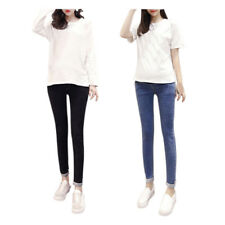 Maternity Jeans Pant Women Pregnancy Trouser Elastic Waistband Tight Over Bump T