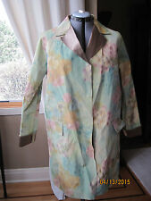 NWT MARNI Womens Lightweight Floral Jacket/Trench Coat Italian 42, US 6