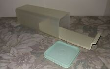 Tupperware Clear Velvetta Cheese Container/ # 1697 / w/ Green Lid