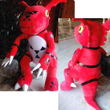 "59"" Anime Digital Monster Extra Guilmon The Genuine Orange Plush Doll COS Toys"