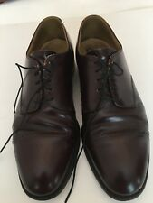 Men's Johnston and Murphy Leather shoes Oxford Lace ups Size 10M Brown