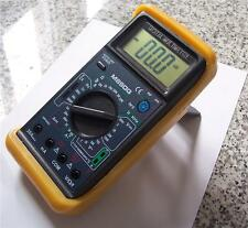 Digital Ammeter DMM W/Capacitor Tester+Type K Thermocouple+Test Leads HVAC+ Tool