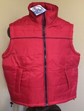 New 2003 Marlboro Gear Deep Red Quilted Vest Men's Size M zip  48 chest Hiking