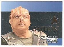 1994-99 Star Trek TNG Episode Collection Embossed #S28 Dathon